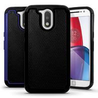 iGadgitz Hard PC Back Shell Cover & Silicone Bumper Case for Motorola Moto G 4th Gen XT1622 (Moto G4) & G4 Plus XT1644