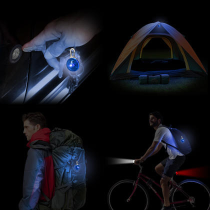 CampTeck LED Safety Clip-On 3 Modes Night Light Pendant for Runners, Walkers, Cyclists Backpacks & much more! - 2x Blue Thumbnail 2