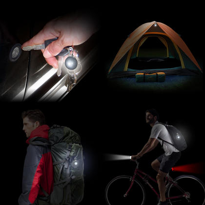 CampTeck LED Safety Clip-On 3 Modes Night Light Pendant for Runners, Walkers, Cyclists Backpacks & much more! - 2x White Thumbnail 2