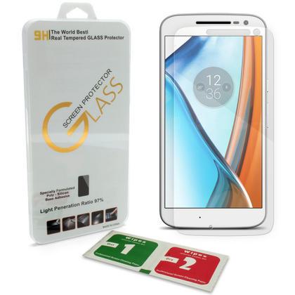 iGadgitz Tempered Glass Screen Protector for Motorola Moto G 4th Generation XT1622 Shatterproof 9H Hardness Anti Scratch Thumbnail 1