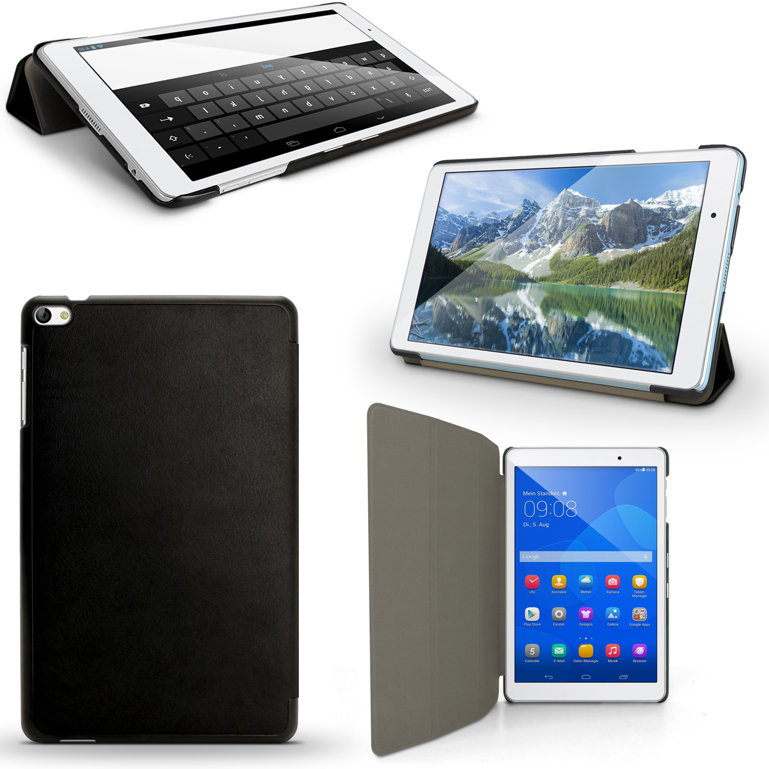 iGadgitz PU Leather Smart Cover Case for Huawei MediaPad T2 10.0 PRO with Stand + Sleep Wake + Screen Protector