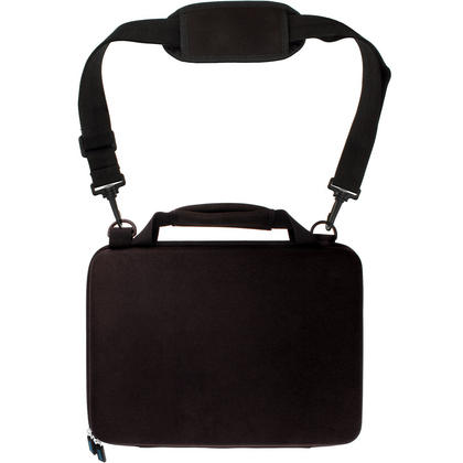 iGadgitz Black EVA Hard Cover Carry Case with Hand Strap & Detachable Shoulder Strap for Samsung Galaxy TabPro S Tablets Thumbnail 4