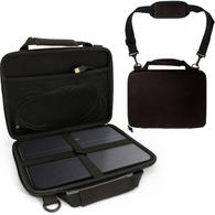 iGadgitz Black EVA Hard Cover Carry Case with Hand Strap & Detachable Shoulder Strap for Samsung Galaxy TabPro S Tablets