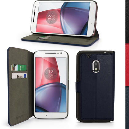 iGadgitz Wallet Flip PU Leather Case Cover for Motorola Moto G4 Play XT1601 2016 (4th Gen) Card Slots + Screen Protector Thumbnail 3