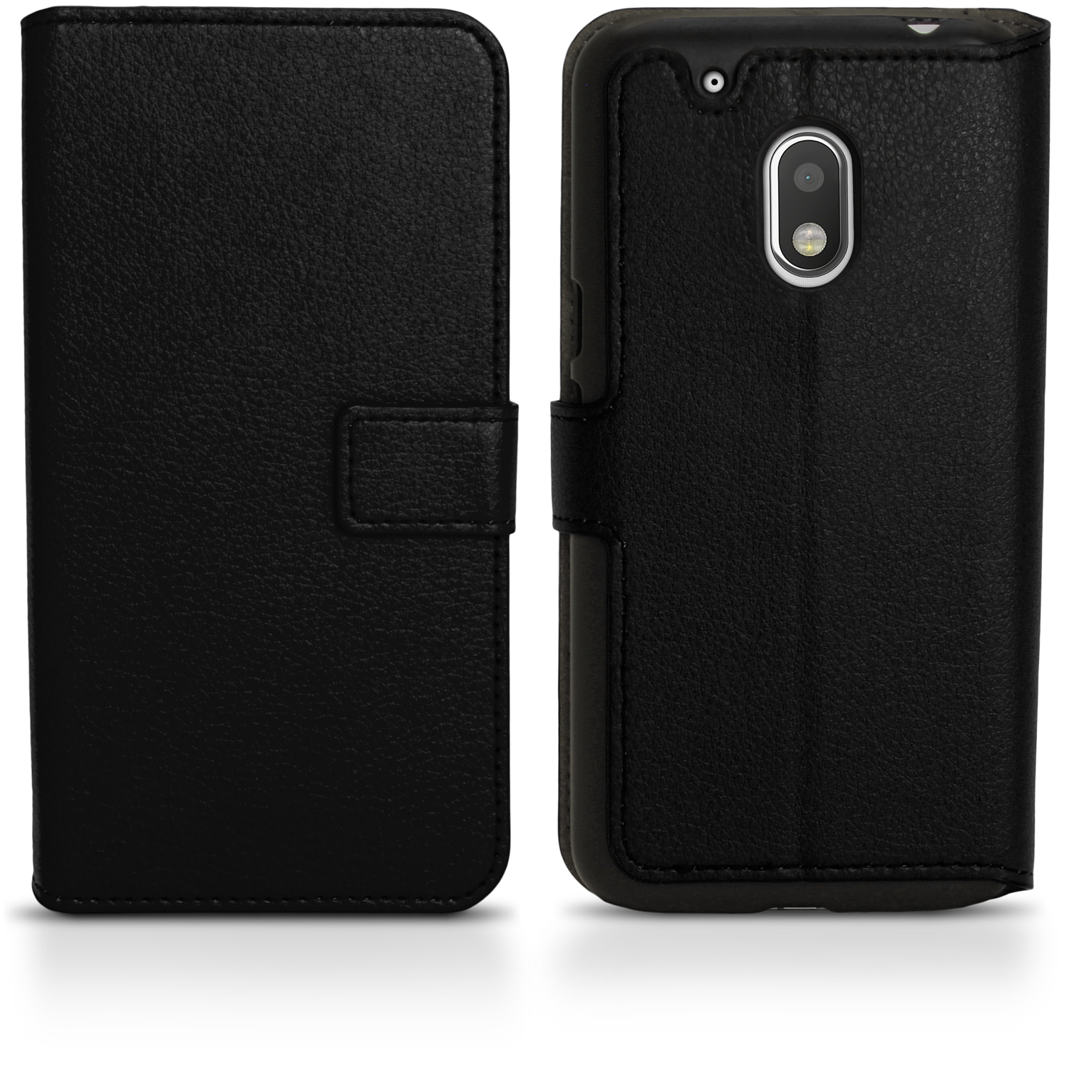 online store e45b4 b3fdc Details about PU Leather Skin Wallet Case for Motorola Moto G4 Play XT1601  Flip Stand Cover