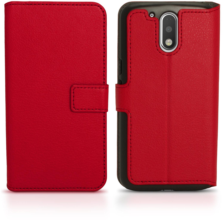 best loved 546f0 9d895 Details about PU Leather Skin Wallet Case for Motorola Moto G4 (4th Gen) &  G4 Plus Flip Cover
