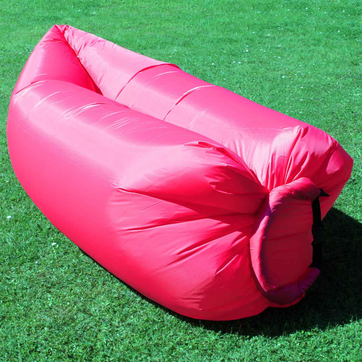 Inflatable Camping Lounger Sleeping Chair Bed Sofa Hangout Laybag