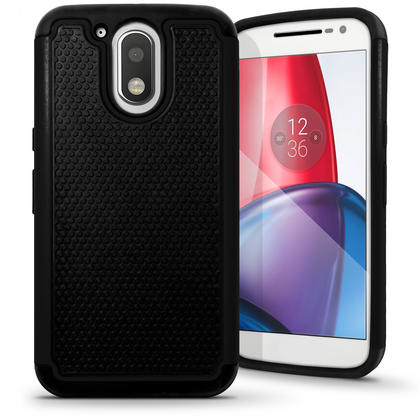 iGadgitz Hard PC Back Shell Cover & Silicone Bumper Case for Motorola Moto G4 Play XT1601 2016 (4th Gen) Thumbnail 1