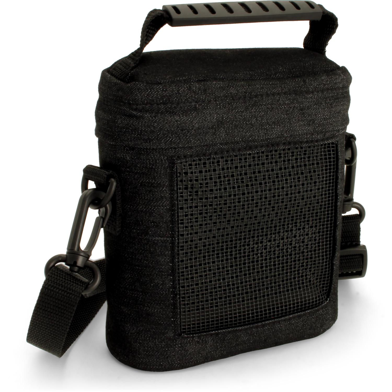 iGadgitz Black Fabric Travel Carrying Bag for Bose SoundLink Colour Bluetooth Speaker with Detachable Shoulder Strap