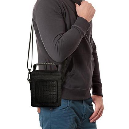 iGadgitz Black Fabric Travel Carrying Bag for Bose SoundLink Colour Bluetooth Speaker with Detachable Shoulder Strap Thumbnail 6