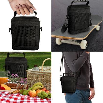 iGadgitz Black Fabric Travel Carrying Bag for Bose SoundLink Colour Bluetooth Speaker with Detachable Shoulder Strap Thumbnail 9