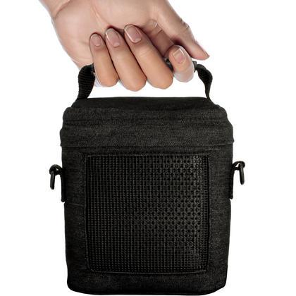 iGadgitz Black Fabric Travel Carrying Bag for Bose SoundLink Colour Bluetooth Speaker with Detachable Shoulder Strap Thumbnail 5
