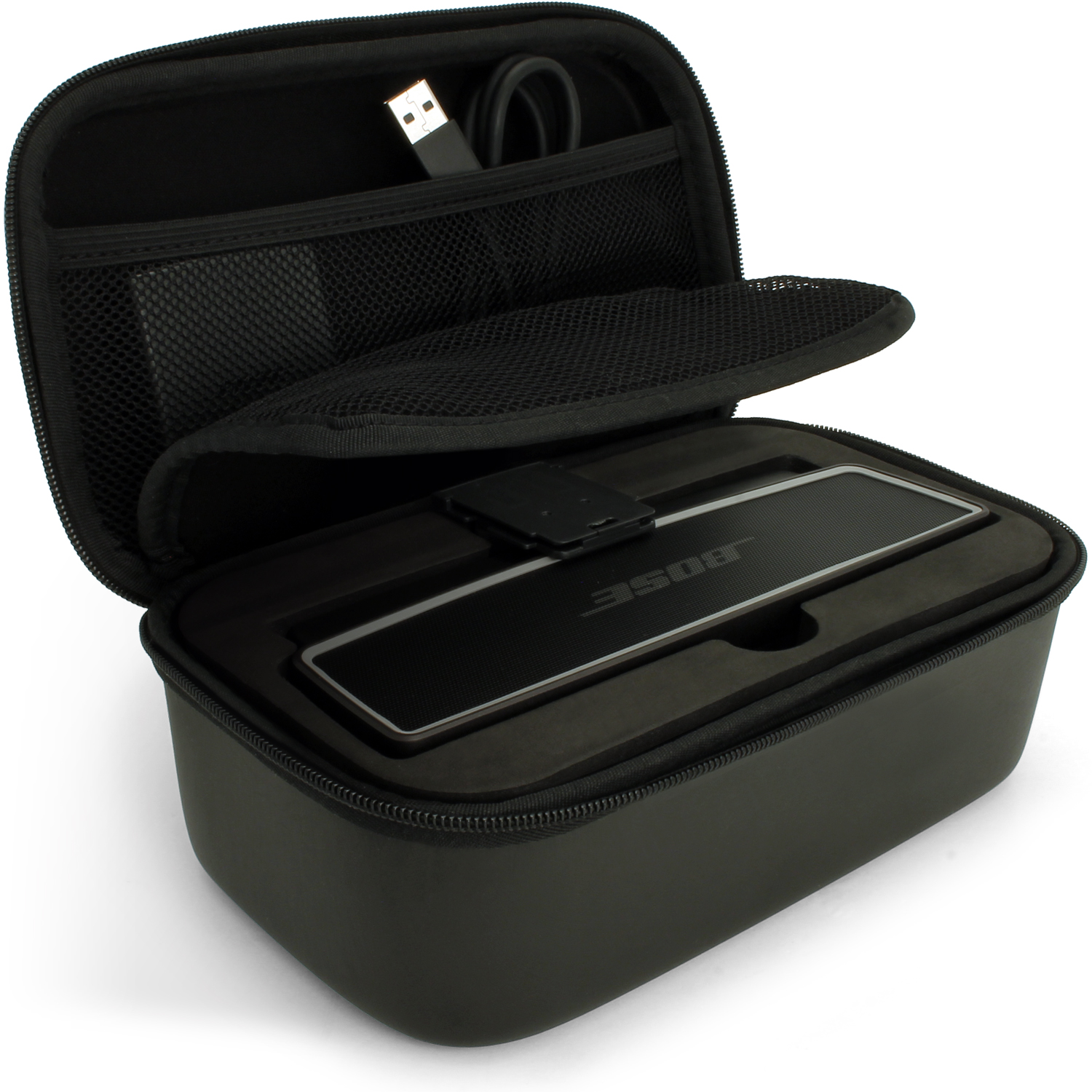 iGadigtz Black EVA Carrying Hard Travel Case Cover for Bose SoundLink Mini I & II Bluetooth Speaker