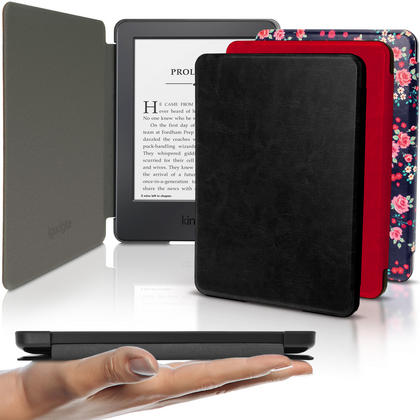"iGadgitz Slim PU Leather Shell Case Cover for  Amazon Kindle E-Reader 6"" (2016) with Sleep/Wake & Magnetic Closure Thumbnail 1"