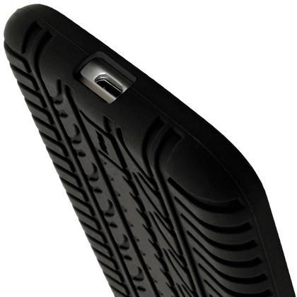 iGadgitz Black Tyre Silicone Gel Case Cover for Motorola Moto G 4th Generation XT1622 (Moto G4) & Moto G4 Plus XT1644 Thumbnail 2