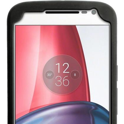 iGadgitz Black Tyre Silicone Gel Case Cover for Motorola Moto G 4th Generation XT1622 (Moto G4) & Moto G4 Plus XT1644 Thumbnail 3