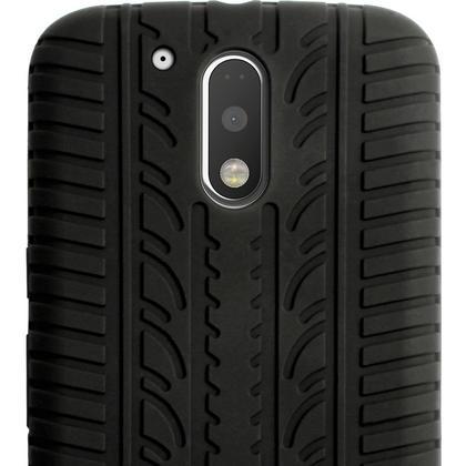 iGadgitz Black Tyre Silicone Gel Case Cover for Motorola Moto G 4th Generation XT1622 (Moto G4) & Moto G4 Plus XT1644 Thumbnail 5