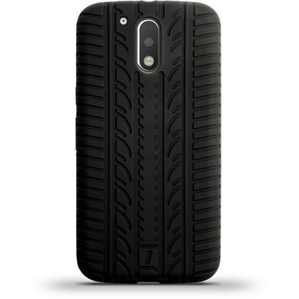 iGadgitz Black Tyre Silicone Gel Case Cover for Motorola Moto G 4th Generation XT1622 (Moto G4) & Moto G4 Plus XT1644 Thumbnail 6