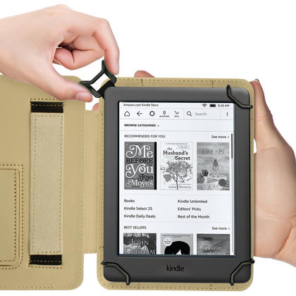 """iGadgitz Butterfly Pattern PU Leather Case Cover for Amazon Kindle E-Reader 6"""" 2016 with Hand Strap & Viewing Stand Thumbnail 8"""