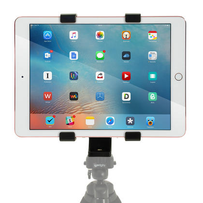 "iGadgitz Universal Tablet Holder Mount Bracket for Tripods with 1/4 Inch Screw Thread ? Fits tablets 7"" - 10"" Tablets Thumbnail 5"