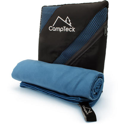 CampTeck Large (180x80cm) Lightweight and Compact Microfibre Towel for Sports, Gym, Beach, Swimming, Yoga, Camping Thumbnail 1