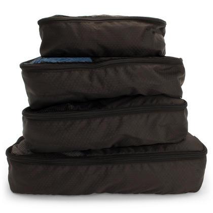CampTeck 5 Pieces Packing 4 Cubes Set Travel Luggage Organizer Zip Bag + 1 Laundry Pouch ? Black (S, M, L, XL) Thumbnail 3