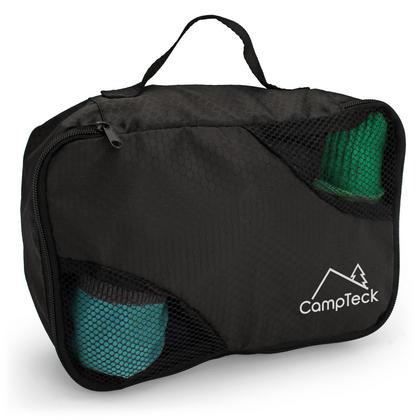 CampTeck 5 Pieces Packing 4 Cubes Set Travel Luggage Organizer Zip Bag + 1 Laundry Pouch ? Black (S, M, L, XL) Thumbnail 4