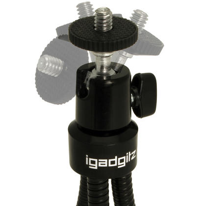 iGadgitz Flexible Large Table Top Tripod for Digital Compact Cameras ? Black Thumbnail 3