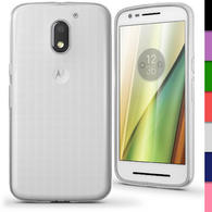 iGadgitz Glossy TPU Gel Skin Case Cover for Motorola Moto E 3rd Generation (E3) 2016 + Screen Protector