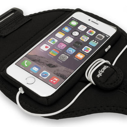 """iGadgitz Water Resistant Black Sports Jogging Gym Armband for Apple iPhone 7 & 8 4.7"""" Thumbnail 3"""