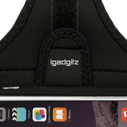 """iGadgitz Water Resistant Black Sports Jogging Gym Armband for Apple iPhone 7 & 8 4.7"""" Thumbnail 4"""
