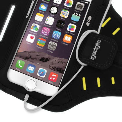 "iGadgitz Water Resistant Lightweight Neoprene Sports Jogging Gym Armband for Apple iPhone 7 & 8 4.7"" with Key Slot Thumbnail 4"