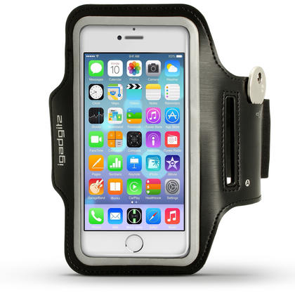 "iGadgitz Reflective Anti-Slip Sports Jogging Gym Armband for Apple iPhone 7 & 8 4.7"" with Key Slot Thumbnail 1"