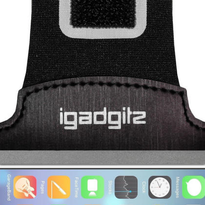 "iGadgitz Reflective Anti-Slip Sports Jogging Gym Armband for Apple iPhone 7 & 8 4.7"" with Key Slot Thumbnail 4"