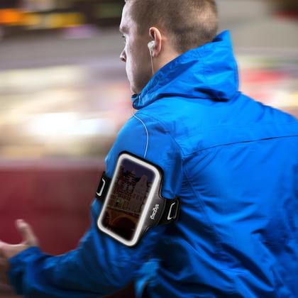 """iGadgitz Reflective Anti-Slip Sports Jogging Gym Armband for Apple iPhone 7 & 8 4.7"""" with Key Slot Thumbnail 5"""