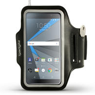 iGadgitz Reflective Black Sports Jogging Gym Armband for BlackBerry DTEK50 (BlackBerry Neon) with Key Slot
