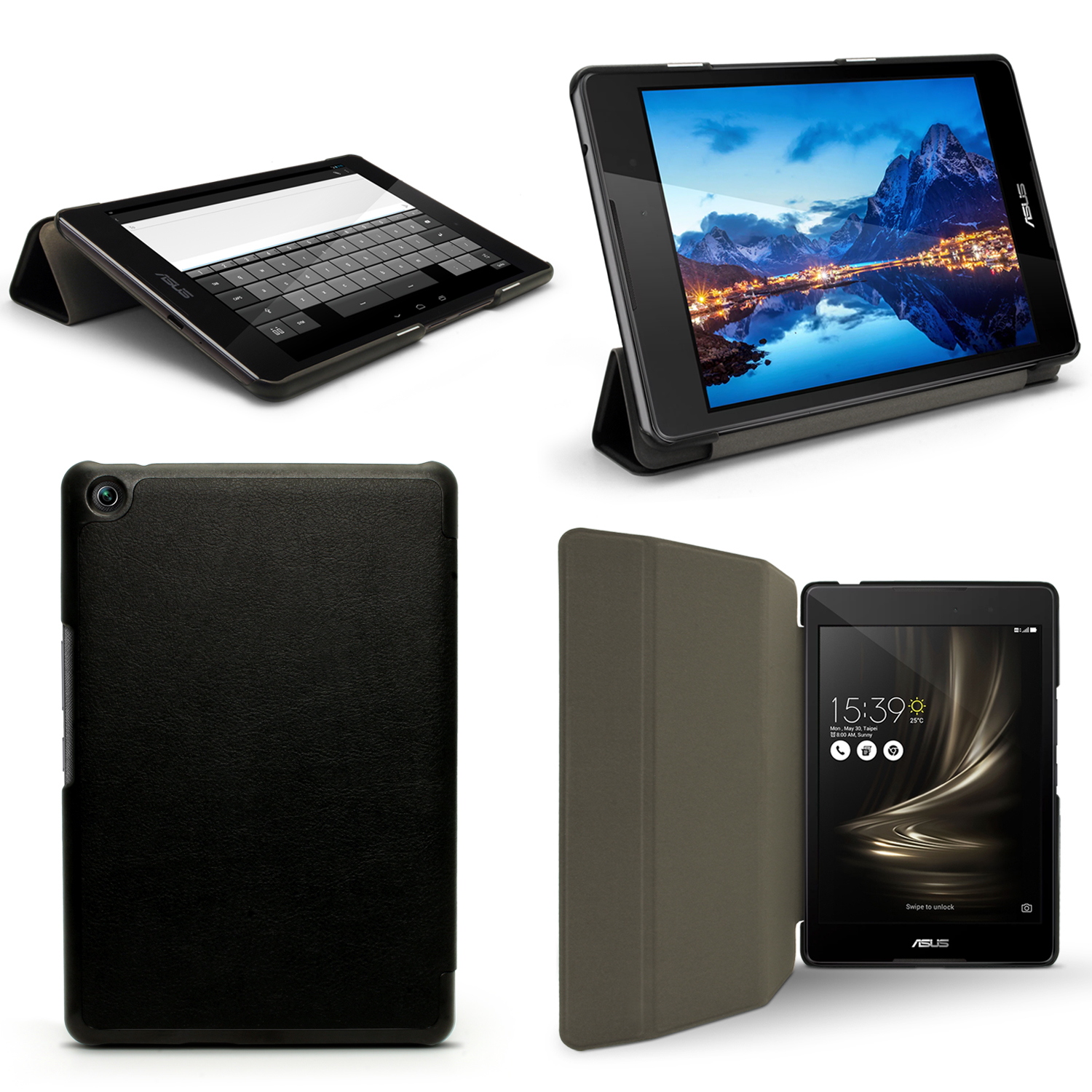 """iGadgitz PU Leather Smart Cover Case for Asus Zenpad 3 8"""" Z581KL with Stand + Sleep/Wake + Screen Protector"""