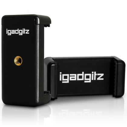 iGadgitz Flexible Large Table Top Tripod + Premium Smartphone Holder Mount Bracket Adapter Thumbnail 3