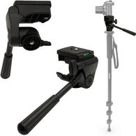 """Optix Pro Aluminium Camera Tilt Pan Head with 1/4"""" Thread for Tripods Monopods (Panning Head Only - Stand NOT Included)"""