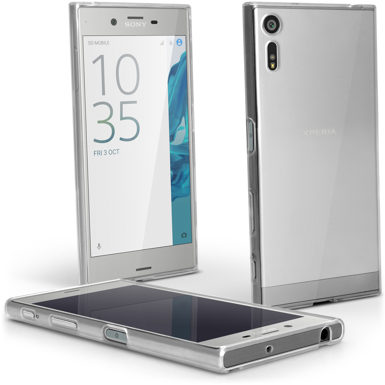 iGadgitz Glossy TPU Gel Skin Case Cover for Sony Xperia XZ F8331 & Dual F8332 Compact + Screen Protector