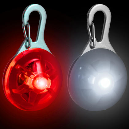 Red & White LED Safety Clip-On Night Light Pendant for Running Walking Cycling with 3 Modes Thumbnail 1
