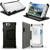 iGadgitz PU Leather Case Cover for Sony Xperia X Compact with Viewing Stand + Auto Sleep/Wake + Screen Protector