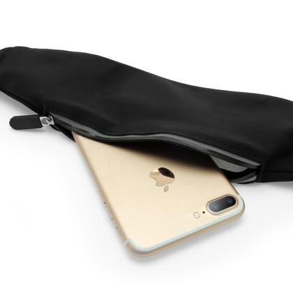 iGadgitz Black Water Resistant Universal Running Belt Waist Pack Fitness Sport Touchscreen Waistband for Smartphones Thumbnail 3