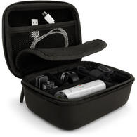 iGadgitz Black EVA Carrying Hard Travel Case Cover for Action Cameras (Go Pro Hero, Session, Qumox, Sony Action Cam etc)