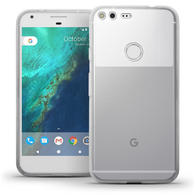 iGadgitz Glossy TPU Gel Skin Case Cover for Google Nexus Pixel XL + Screen Protector