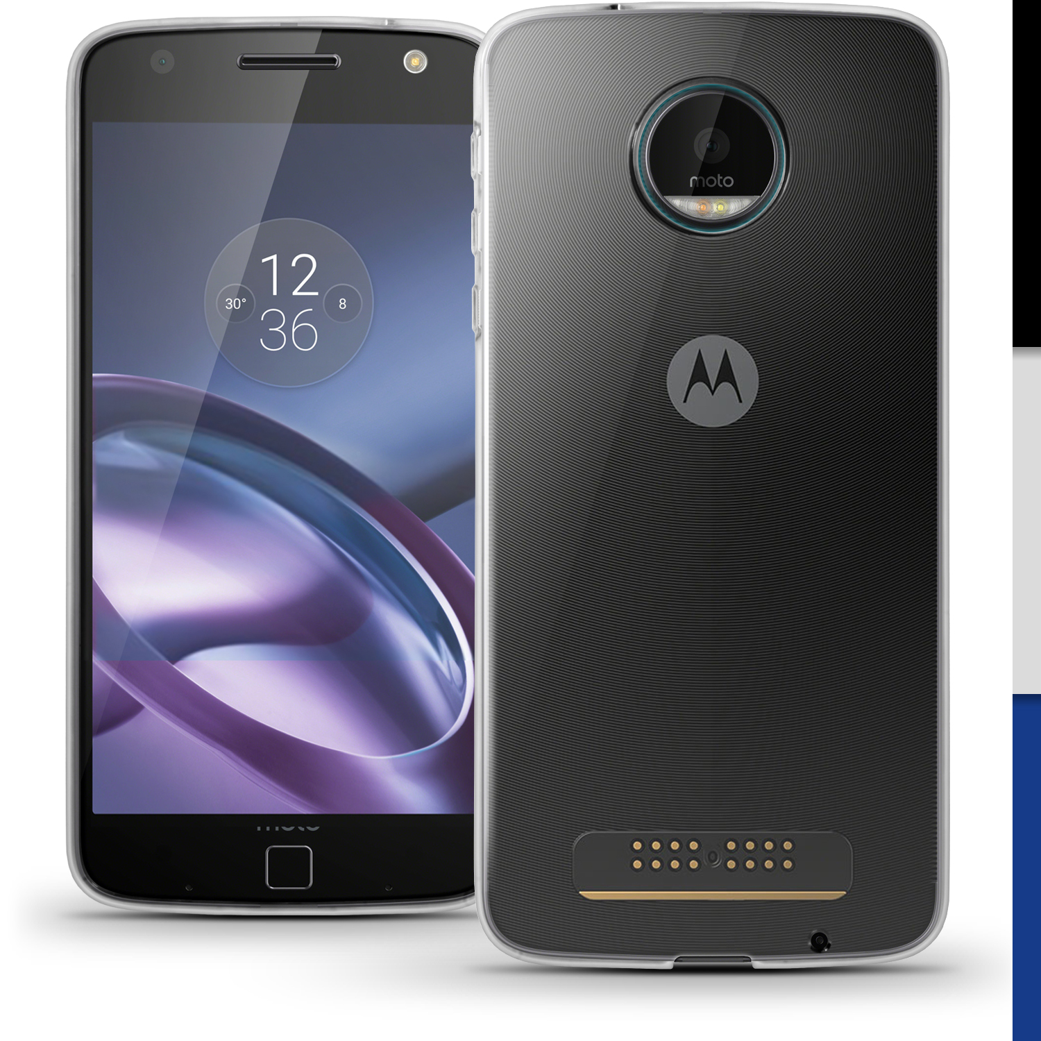 motorola moto z. igadgitz glossy tpu gel skin case cover for motorola moto z play + screen protector