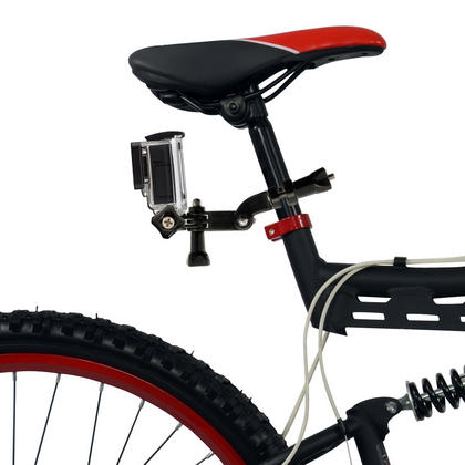 Optix Pro Bicycle Handlebar Mount Clamp Thumbscrew 3 Way Pivot Arm for GoPro Hero5 Black & Session 4 3+ 3 2 1 Thumbnail 3