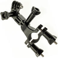 Optix Pro Bicycle Handlebar Mount Clamp Thumbscrew 3 Way Pivot Arm for GoPro Hero5 Black & Session 4 3+ 3 2 1