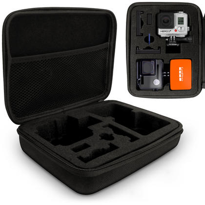 Optix Pro Large EVA Hard Travel Case Cover with Zip Closure & Foam Inserts for  GoPro Hero5 4 3+ 3 2 1 Action Cameras Thumbnail 1