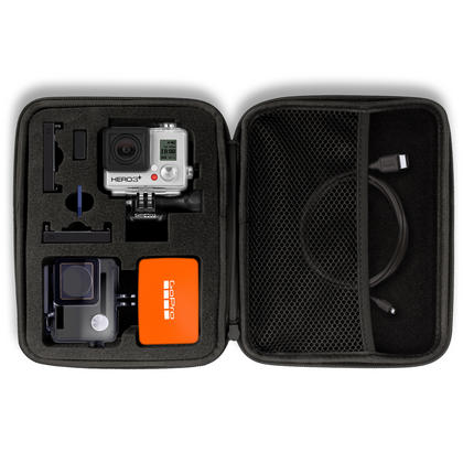 Optix Pro Large EVA Hard Travel Case Cover with Zip Closure & Foam Inserts for  GoPro Hero5 4 3+ 3 2 1 Action Cameras Thumbnail 2